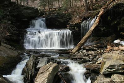 Kitchen Creek - Falls in Ricketts Glenn State Park, Pennsylvania