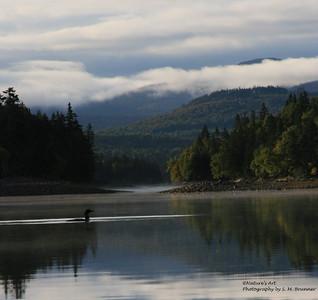 Aziscohos Lake at Bosebuck Mountain Lodge, Maine