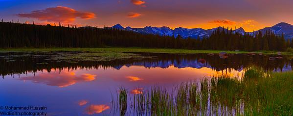 Sunset over Indian Peaks Wilderness, Nederland, CO