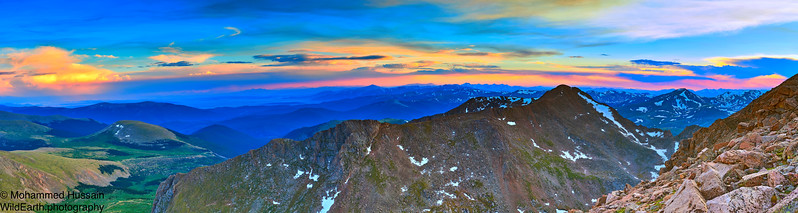 Mount Evans Sunset, Mount Evans Wilderness, CO