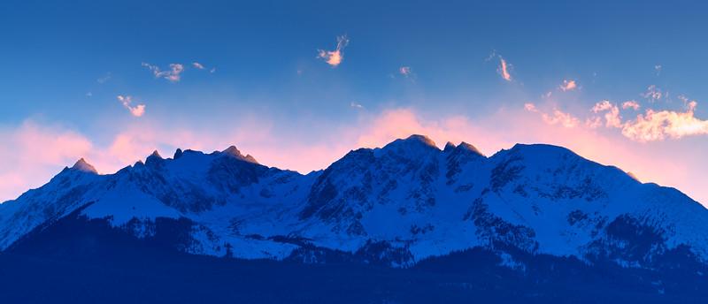 Sunset Over Gore Range, CO