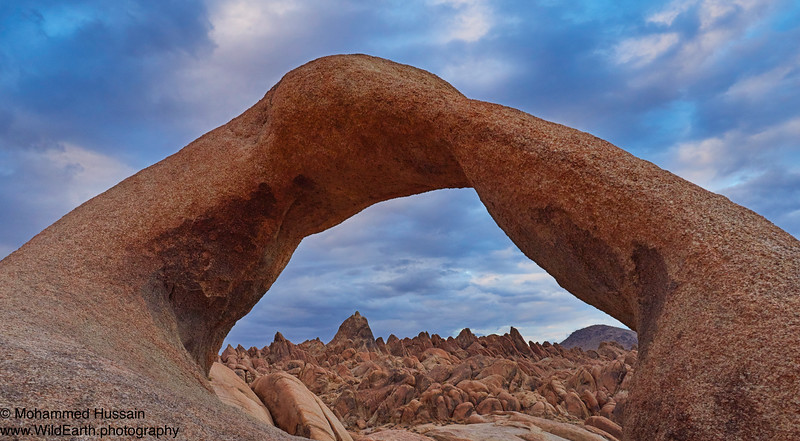 Alabama Hills Through Mobius Arch - Lone Pine, CA