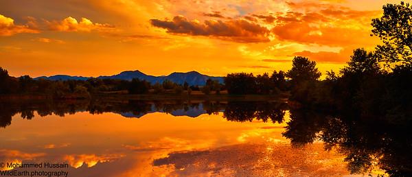 Summer Boulder Sunset, Walden Ponds Wildlife Habitat, Boulder