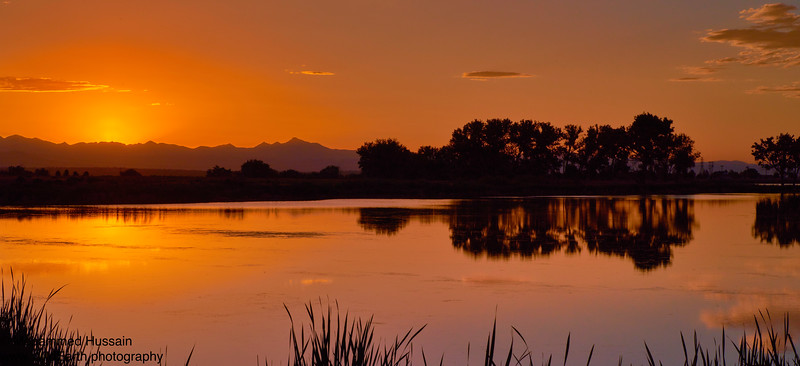 Sunset Over Rocky Mountain Arsenal Wildlife Refuge, CO