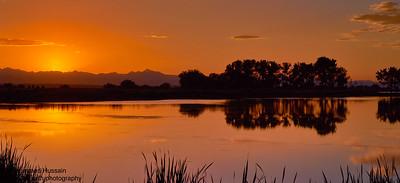 Sunset Over Rocky Mountain Arsenal Wildlife Refuge, CO