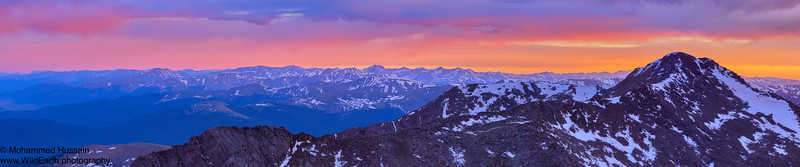 Rocky Mountains Sunset- Mt. Evans Wilderness, CO