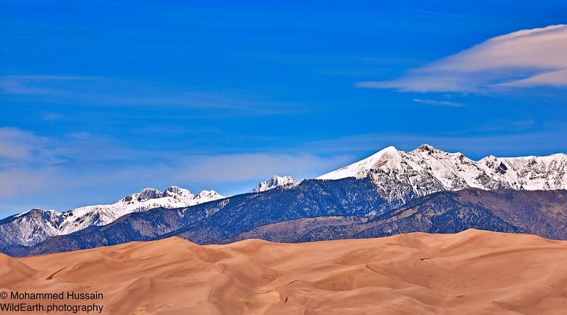 Sangre de Cristos Range,  Great Sand Dunes National Park & Preserve, San Luis Valley, CO