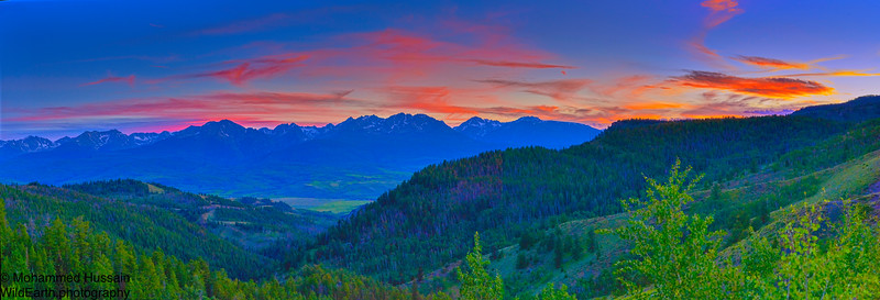 Sunset over Gore Range, Silverthorne, CO