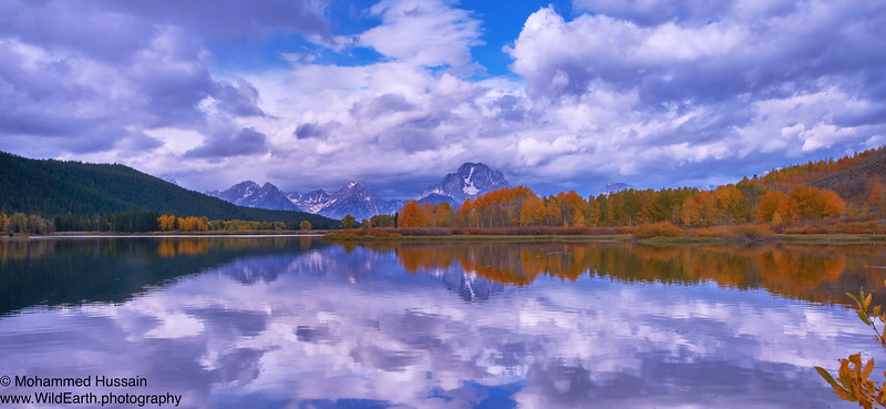 Reflection of Mt. Moran and Oxbow Bend - Grand Teton National Park, WY