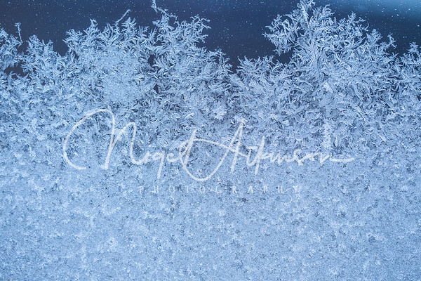 Frost on glass