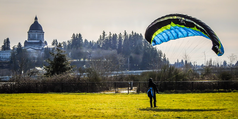 Olympia State Capitol 4th Ave Bridge ParaGlider