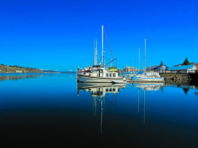 Boat Reflection at Percival Landing