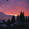 Sunset, Villars sur ollon, Swiss alps, 1995/1996