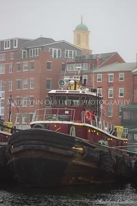 The Portsmouth Tug in Fog
