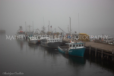 Fishing Boats in Fog at Portsmouth Pier