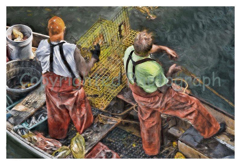 It could be said that the  rugged individualism of the New Hampshire personality is often  illustrated in the coastal activity of lobstering.