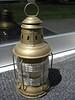 "SOLD....Light #A0005...National Marine Brass Lamp, 13"" tall & 6"" diameter.Tri-Plex lens, mint unused condition....$395.00"