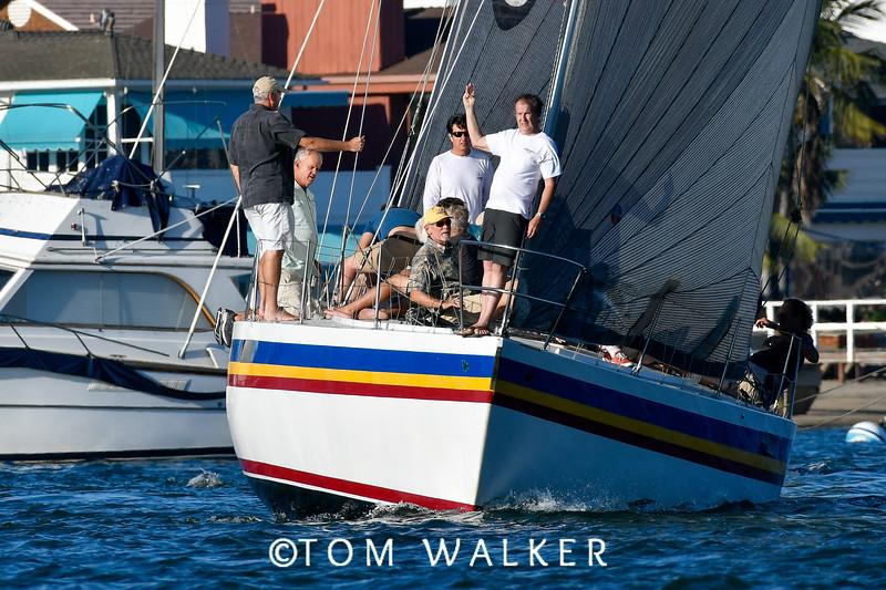 Beercan Series Yacht racing with USMC in Newport Beach, Ca