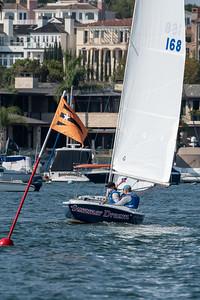 October 8, Practice Sailing  2020 Championship of Champions Regatta, October 8, 2020 in Newport Harbor, Newport Beach, California. Photo by Tom Walker