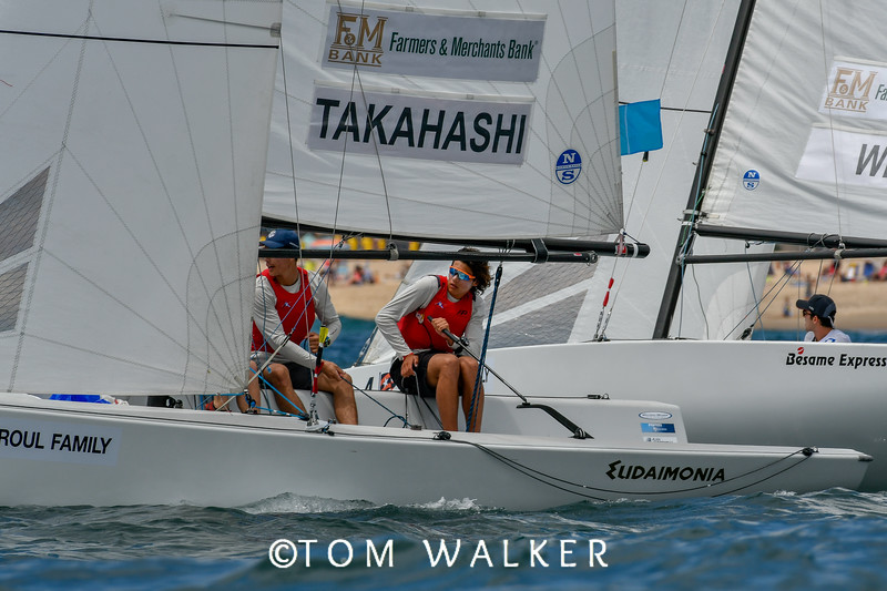 Takahasi and Weis leaving the start at day one Gov Cup 2018