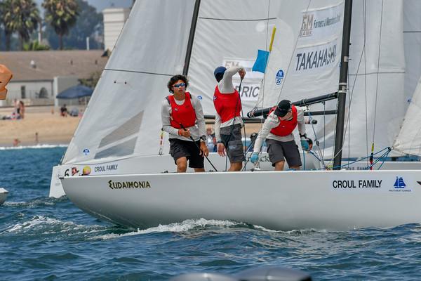Leonard Takahasi sailing day one GovCup 2018
