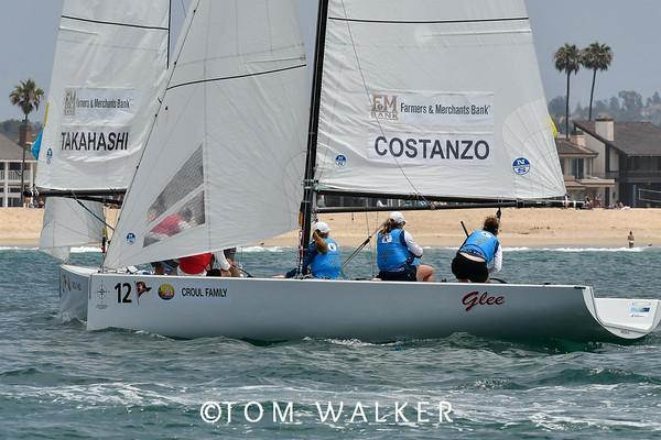 2018 Governor's Cup Match Racing Regatta,  Balboa Yacht Club, Long Corona del Mar, CA ©Tom Walker