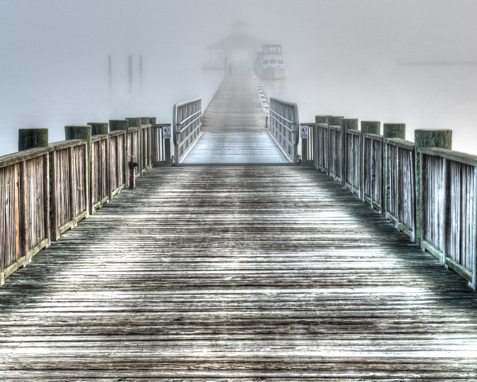 Pier with Fog 2739