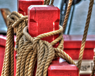 Rope with Red Wood 1173