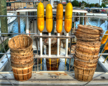 Yellow Buoys with Baskets 3200