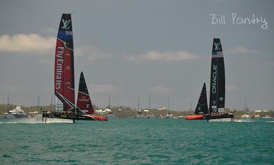 America's Cup Finals. The Great Sound, Bermuda