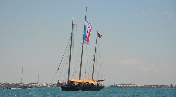 The Spirit of Bermuda at the America's Cup Finals. The Great Sound, Bermuda
