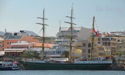 Tallships 2017, Alexander von Humboldt II, massing in Hamilton Harbour, Bermuda