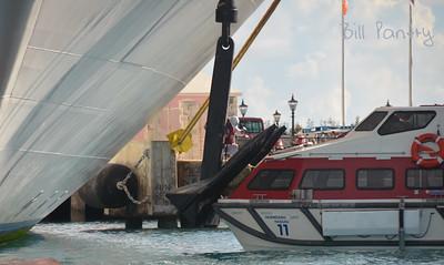 Cruise ship anchor maintenance