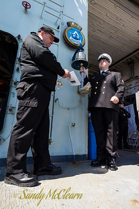 Ringing the ship's bell for each RCN ship lost in the Battle of the Atlantic.
