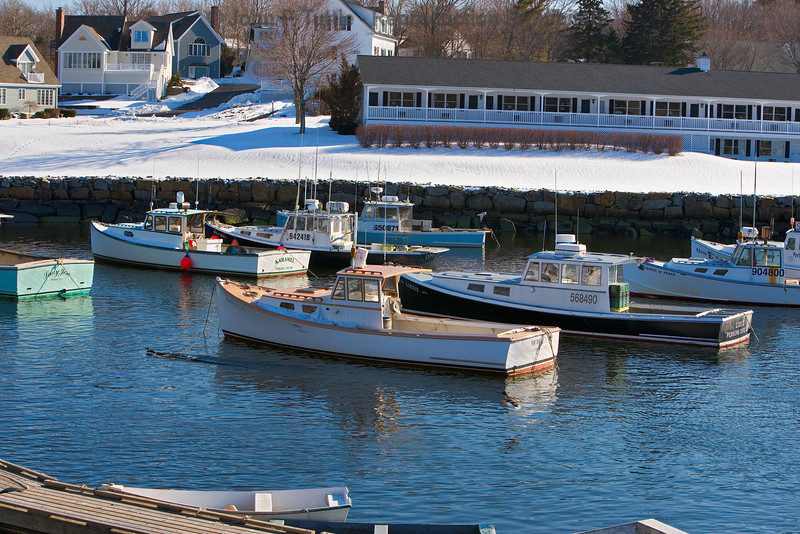 Fishing Boats in Perkins Caove Maine