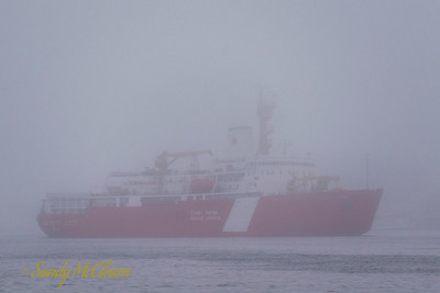 CCGS Louis S. St. Laurent in the fog.