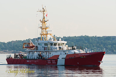 CCGS Private Robertson V.C. on sea trials.