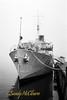 HMCS SACKVILLE in fog. Scanned from Kodak 400TX film.