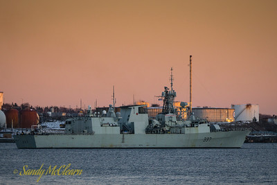 HMCS FREDERICTON (FFH 337) departing for Op Reassurance (one day later than official departure, after taking on ammunition).