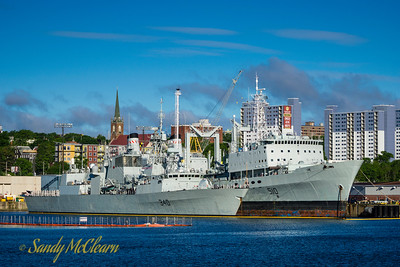 HMCS ST. JOHN'S (FFH 340) alongside HMCS PRESERVER (AOR 510).