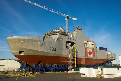 Future HMCS HARRY DEWOLF under construction at Halifax Shipyard.