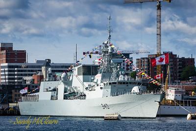 HMCS ST. JOHN'S (FFH 340) on the Halifax waterfront.