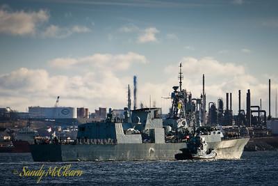 HMCS FREDERICTON (FFH 337) departure for NATO duties.