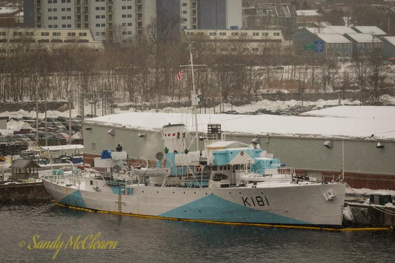 HMCS SACKVILLE (K171) in HMC Dockyard.