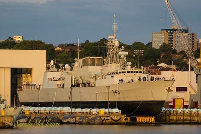 HMCS ST. JOHN'S (FFH 340) on the Syncrolift.