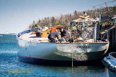 HMCS ORIOLE undergoing work in Lunenburg, NS.