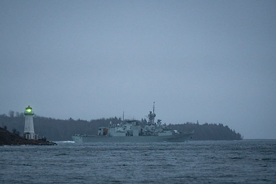 VILLE DE QUEBEC returns from Op Reassurance. First operational deployment for the CH-148 Cyclone helicopter.