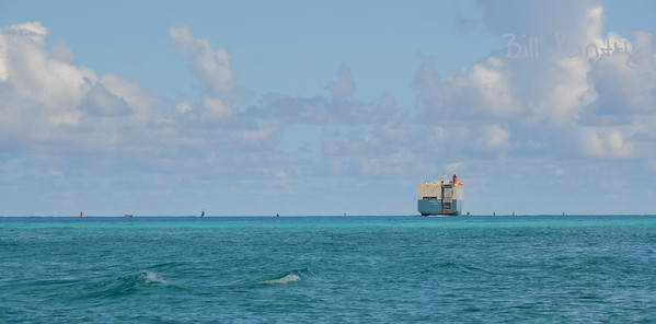 Roro ship Polaris Ace off of St Georges, Bermuda
