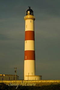 The lighthouse at Tarbat Ness in Scotland, near Tain.