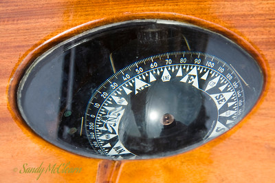 A compass on a sailboat.